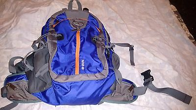 40 Litre Blue Orange Day Rucksack Backpack Airspace Hiking Travel With Raincover