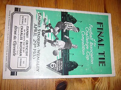 1933 FA Cup final programme
