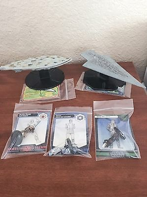 Star Wars Miniatures (Lot Of 5) All Rare Figures