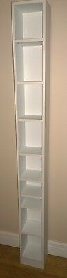 DVD and CD Media Storage Tower - White