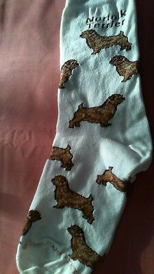 Norfolk Terrier Socks by For Bare Feet NWT
