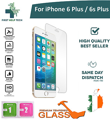 For iPhone 6 Plus / iPhone 6s Plus Tempered Glass Screen Protector Guard Film