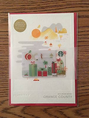 Starbucks 2016 Orange County City Holiday Edition Greeting Card HOLIDAY RELEASE