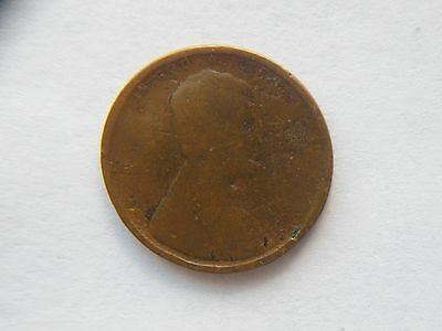 1909-P LINCOLN WHEAT Cent *1st Year Made* Error Coin, Struck through Grease