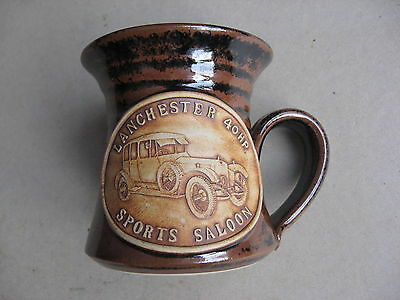 Lanchester 40HP Sports Saloon Mug Colmworth Pottery , Sale !