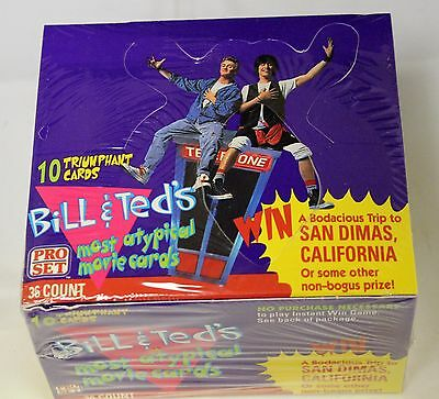 FULL BOX: Bill & Ted's Most Atypical Movie Cards TRADING CARDS (Pro Set 1991)