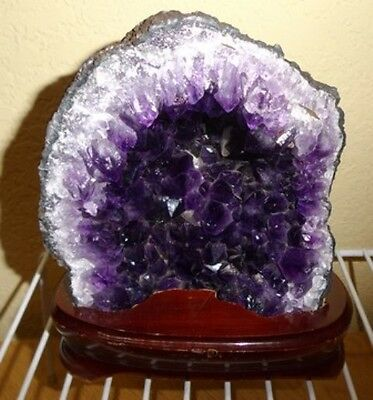 Cathedral Amethyst Geode Cluster Druzy Natural Raw Rock Stone Gemstone Brazil