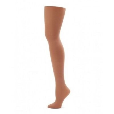 Econ-o-me Capezio 3C Child Size Medium/Large Suntan Seamless Footed Tights