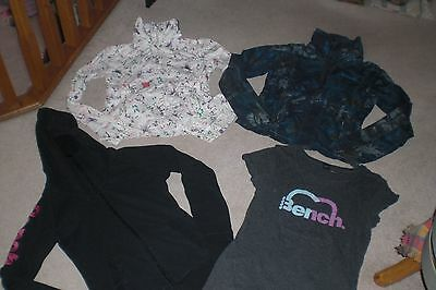 Lot of 3 Womans Bench Jackets / Hoodies and 1 Tshirt sz M