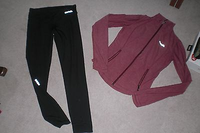 Lot of 2 Womans Bench Jackets and 1 pair of Leggings sz SM