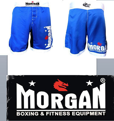 Morgan Mma Shorts Gym Fitness Mens Blue Pair Crossfit Medium Large M L Training