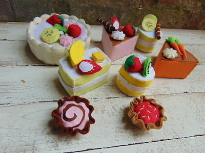 Hand Made Sewn Sewing Felt Cake Bakery Shop Display Pieces