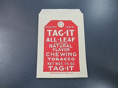 TAG-IT All Leaf Chewing Tabacco Vintage Paper Bag, Crimson Coach Inc.