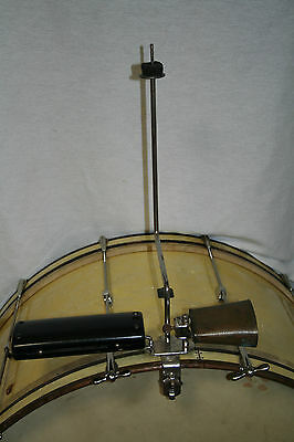 WFL Cymbal/Cowbell/Tuneable Block & Holder. Complete/Original/Rare 40's