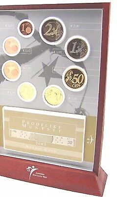 Netherlands Proof Set Euro Coins 2000 1cent To 2€ New With CoA kMS