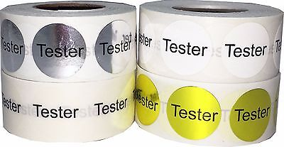 Circle Tester Stickers, 3/4 Inch Round Labels, 500 per Roll, 4 Color Choices