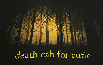 DEATH CAB FOR CUTIE woods forest wording 2-sided concert tour shirt adult small