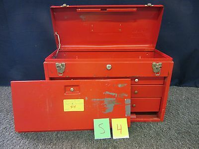 Stack On Tool Box Red Military Kit Artillery Drawer Metal Chest Tray Used