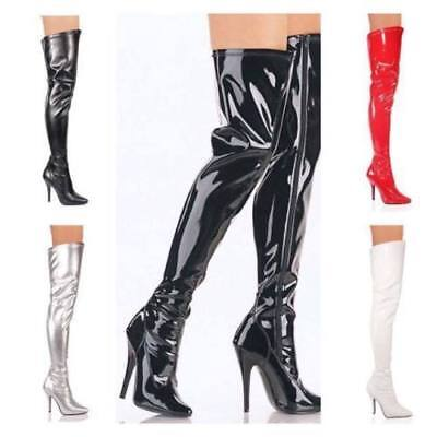 d10a89e8782 NEW WOMENS LADIES Sexy Thigh High Over The Knee High Heel Stretch ...