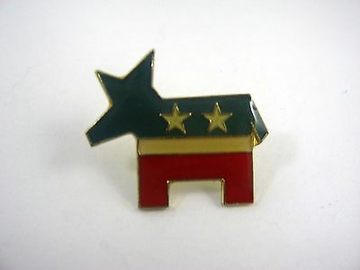 Vintage Collectible Pin: Donkey Democrat Fun Design