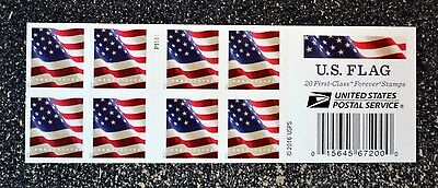2017USA #5161 Forever U.S. Flag US - Booklet of 20  Mint  (APU)