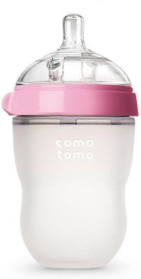 Natural Feel Baby Bottle, COMOTOMO, 250ml 1 pack Pink