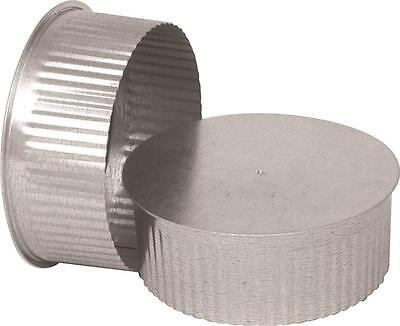 "Imperial GV0733 SMALL ROUND END CAP 4"" 30 Ga Thick Galvanized FOR STOVE PIPE"