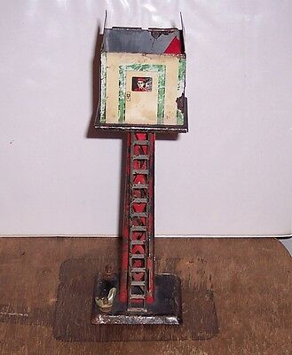 Marx Tin lighted switch signal tower.