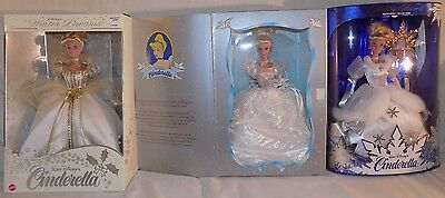 Wow!! Rare Lot Of 3 New Collectible Cinderella Dolls – Nib Nrfb – Disney Mattel!