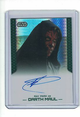 2015 Star Wars Chrome Perspectives Ray Park as Darth Maul Prism Auto 11/50