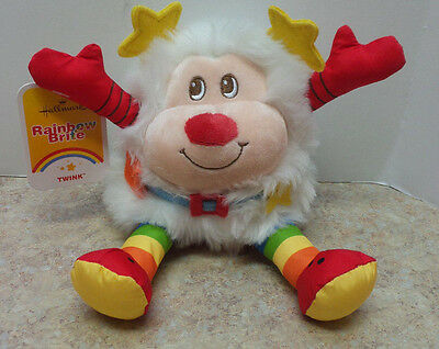 "9"" Hallmark Rainbow Brite WHITE SPRITE TWINK Plush Doll Stuffed Animal NWT"
