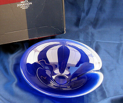 "Mats Jonasson Blue Magic 7"" Bowl with Box  Retail $75+"