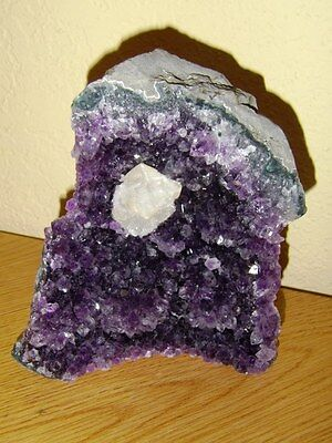Brazilian Cathedral Amethyst Quartz Crystal Geode Cluster Natural Rock Stone