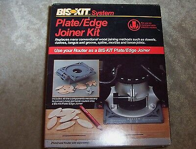 Craftsman BIS-KIT System Router Plate Edge Joiner Kit 9-25423 -NEW w/ Biscuits