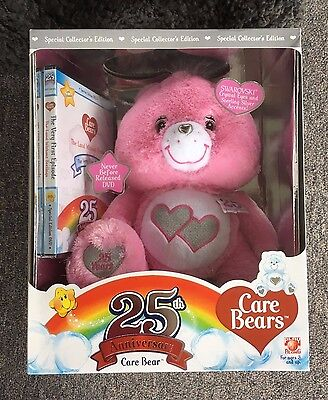 PINK Care Bears 25th Anniversary Special Collector's Edition w DVD never opened