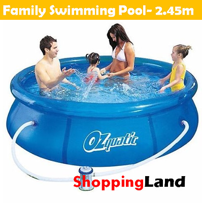 Family Swimming Pool Inflatable Fast Set Up Above Ground Pool with Filter Pump