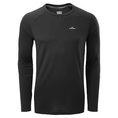 Kathmandu driMOTION Mens Long Sleeve Tee Active Gym Performance T-Shirt Black