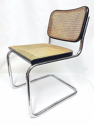 gavina original signed cesca chair design marcel breuer 70's - 2 available