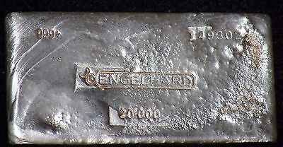 RARE VINTAGE 20oz ENGELHARD CANADA POURED SILVER BAR ***WITH MAJOR CHARACTER!***