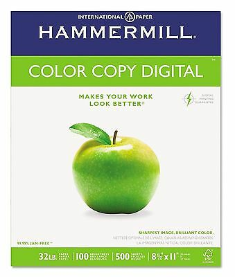 "Hammermill - Color Copy Digital Paper, 32lb, 100 Bright, 8-1/2 x 11"" - Ream"