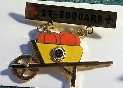 St Edouard Quebec  Lions Club  Collector Pin T1