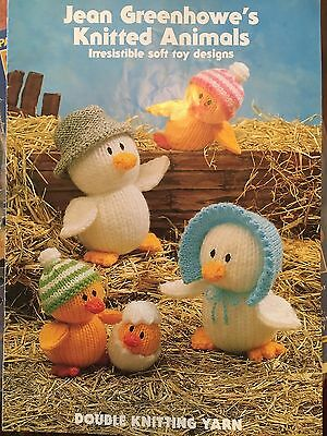 Jean Greenhowes knitted animals soft toy designs 8 ply yarn knitting pattern toy