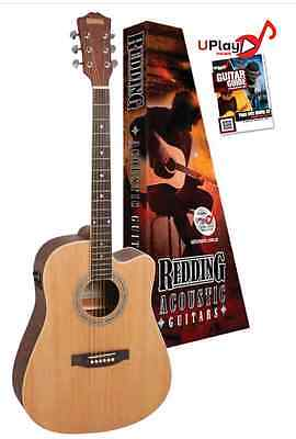 Redding Acoustic Electric Guitar, Spruce top. Mahogany back and side