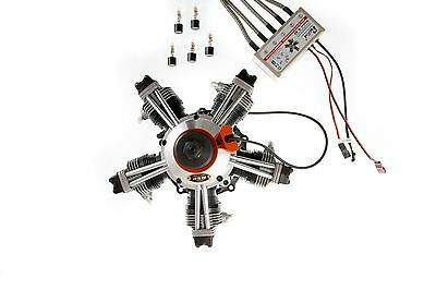 ASP FS-400 5 Cylinder 4 Stroke Radial Engine CDI Ignition Conversion Combo