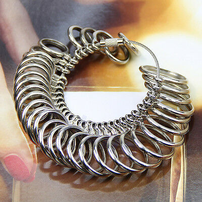 Easy To Use 1-33 Finger Ring Metal Sizer New Measure Gauge Jewelry Size Tools