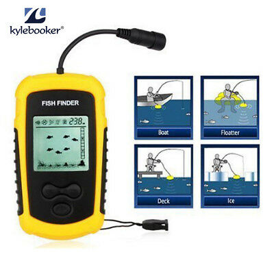 100m depth fish finder portable sonar sensor alarm transducer, Fish Finder