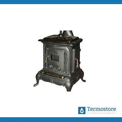 Parlor Stove Cast Iron With Special Big Black Satin