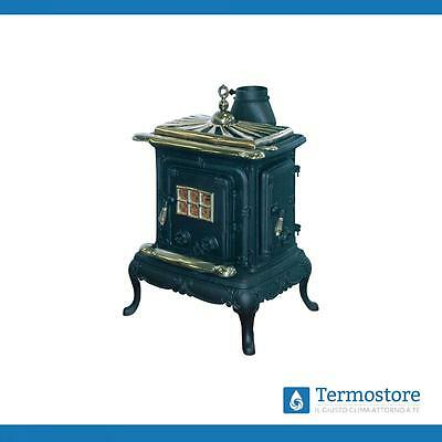 PARLOR STOVE CAST IRON SMALL BLACK WITH SPECIAL SATIN 57x51x87 cm