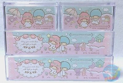 NEW! SANRIO Little Twin Stars KAWAII Square Resin Pile Up Case 4 piece Set JAPAN