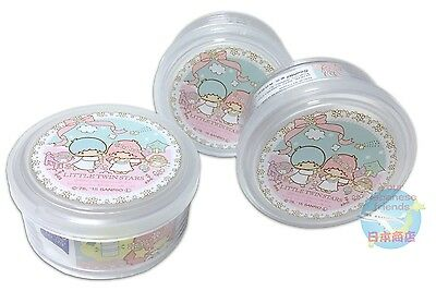 NEW! SANRIO Little Twin Stars KAWAII Cylindrical case with lid 3 piece Set JAPAN
